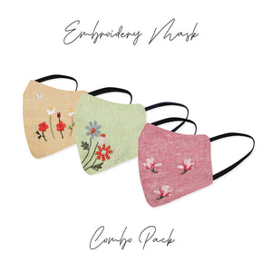 Embroidery Mask For Women Combo Pack Of 3