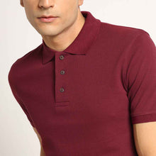 Load image into Gallery viewer, maroon polo neck t-shirt