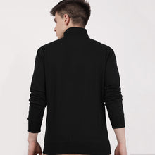 Load image into Gallery viewer, Black recycle cotton turtle neck Sweatshirt