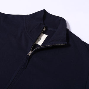 Navy Recycled Cotton Turtle Neck Sweatshirt