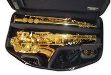 Load image into Gallery viewer, Marcus Bonna Double Case for Alto and Soprano Saxophone- Black- Nylon