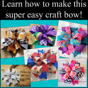 Coral & Sage Cactus DIY Craft Bow Kit - Designer DIY