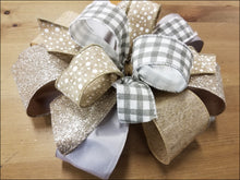 Load image into Gallery viewer, Glitz & Gray DIY Craft Bow Kit - Designer DIY
