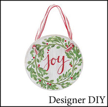 Load image into Gallery viewer, Joy Christmas Wood Sign | Ornament - Designer DIY