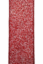 "Load image into Gallery viewer, 2.5"" Red & White Glitter DESIGNER Ribbon - Designer DIY"