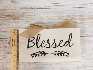 Blessed Wood Sign - Designer DIY