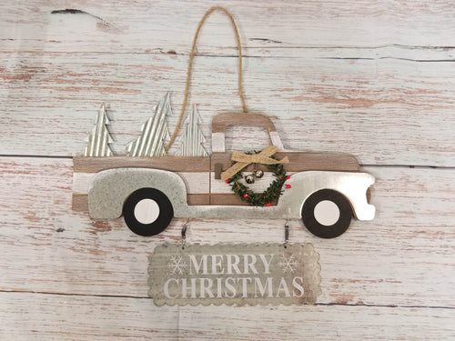 Merry Christmas Vintage Truck Sign - Designer DIY