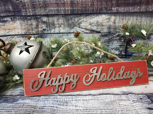 Happy Holidays Rustic Sign - Designer DIY
