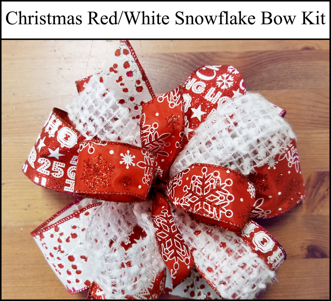 Christmas Snowflake DIY Craft Bow Kit - Designer DIY