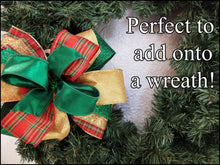 Load image into Gallery viewer, Red & Emerald Christmas DIY Craft Bow Kit - Designer DIY