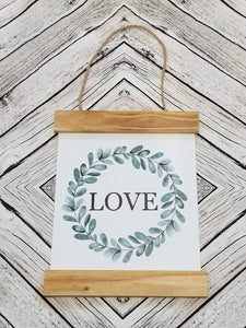 Love Eucalyptus Sign