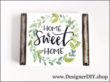 Load image into Gallery viewer, Home Sweet Home Painted Wood Sign - Designer DIY