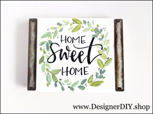 Home Sweet Home Painted Wood Sign - Designer DIY