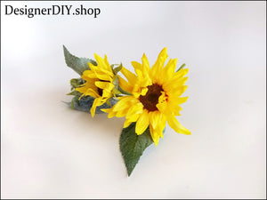 Sunflower Floral Pick - Designer DIY