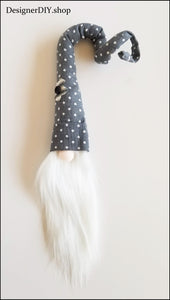 Gnome, Everyday Gnome, Polka Dot Hat with Flower - Designer DIY