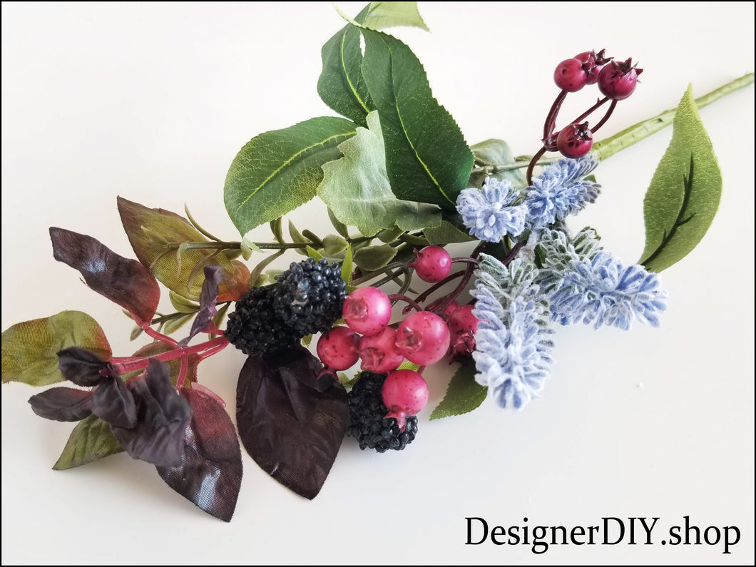 Berry Floral Pick, Berry Spray - Designer DIY