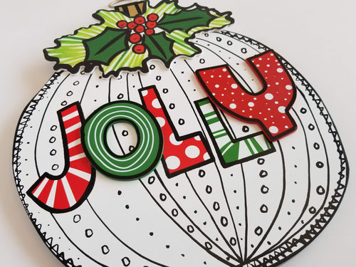 JOLLY Holiday Ornament Sign - Designer DIY