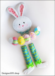 Easter Bunny Wreath Attachment, Easter Bunny kit - Designer DIY