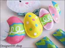 Load image into Gallery viewer, Easter Bunny Wreath Attachment, Easter Bunny kit - Designer DIY