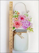 Load image into Gallery viewer, Reversible Mason Jar Sign, Love Blooms Here Sign - Designer DIY