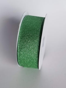 "1.5"" Light Pastel Green Glitter Ribbon - Designer DIY"