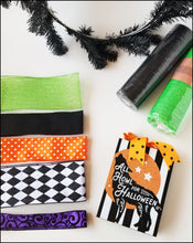 Load image into Gallery viewer, Halloween Harlequin | Wolf DIY Wreath Kit - Designer DIY