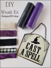 Load image into Gallery viewer, Cast a Spell Halloween DIY Wreath Kit - Designer DIY