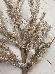 Champagne Gold Tinsel Pick - Designer DIY
