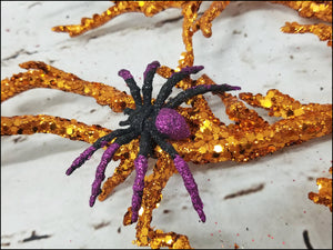 Halloween Spider Pick | Orange & Purple - Designer DIY
