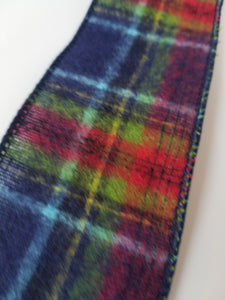 "2.5"" Navy Green Red Flannel Plaid Ribbon - Designer DIY"