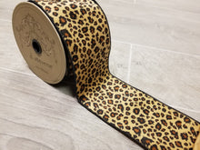"Load image into Gallery viewer, 4"" Faux Fur Leopard DESIGNER Ribbon - Designer DIY"