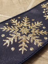 "Load image into Gallery viewer, 2.5"" Snowflake DESIGNER Ribbon 