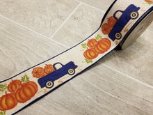 "Load image into Gallery viewer, 2.5"" Fall Plaid Truck DESIGNER Ribbon 