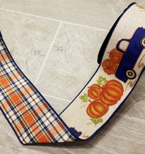 "2.5"" Fall Plaid Truck DESIGNER Ribbon 