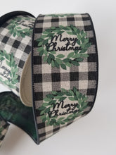 "Load image into Gallery viewer, 2.5"" Merry Christmas Plaid DESIGNER Ribbon - Designer DIY"