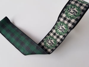 "2.5"" Merry Christmas Plaid DESIGNER Ribbon - Designer DIY"