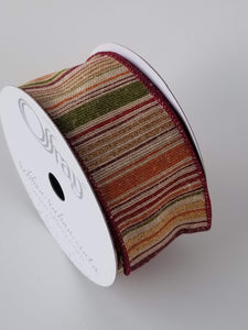"2.5"" Fall Stripe Ribbon - Designer DIY"
