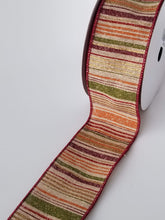"Load image into Gallery viewer, 2.5"" Fall Stripe Ribbon - Designer DIY"