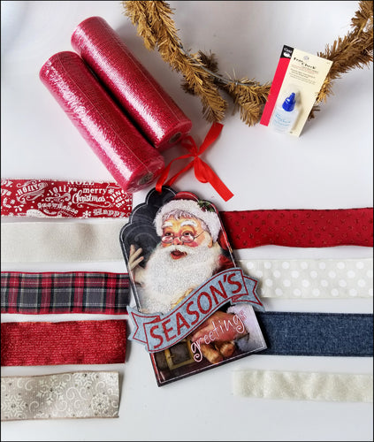 Vintage Santa | Season's Greetings DIY Wreath Kit - Designer DIY