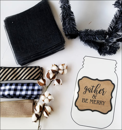 Gather & Be Merry Holiday DIY Wreath Kit - Designer DIY