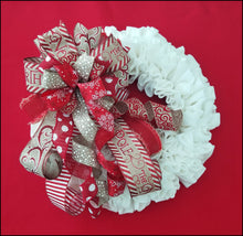 Load image into Gallery viewer, North Pole Christmas Handmade Bow - Designer DIY
