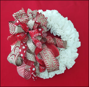 North Pole Christmas Handmade Bow - Designer DIY