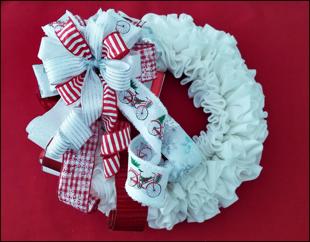 Winter Wonderland Handmade Bow - Designer DIY