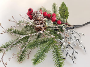 Pine Berry Holly Spray - Designer DIY