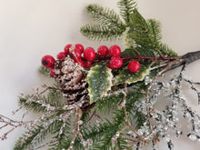 Load image into Gallery viewer, Pine Berry Holly Spray - Designer DIY