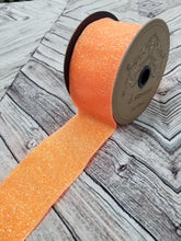"Load image into Gallery viewer, 2.5"" Neon Orange Sugar Glitter DESIGNER Ribbon - Designer DIY"