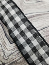 "Load image into Gallery viewer, 1.5"" Black & White Gingham Check DESIGNER Ribbon - Designer DIY"