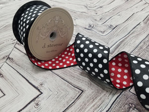 "2.5"" Double Sided Polka Dot DESIGNER Ribbon - Designer DIY"