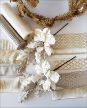 Load image into Gallery viewer, Champagne Poinsettia DIY Wreath Kit - Designer DIY