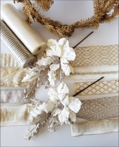 Champagne Poinsettia DIY Wreath Kit - Designer DIY